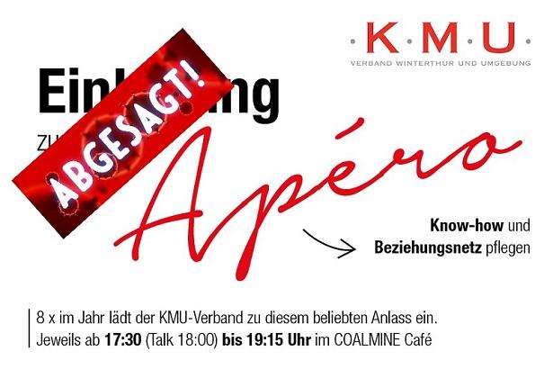 KMU-Apéro vom 24. November 2020 leider abgesagt